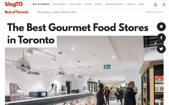 BlogTO feature