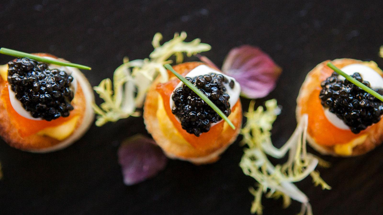 ONE Restaurant Caviar bites