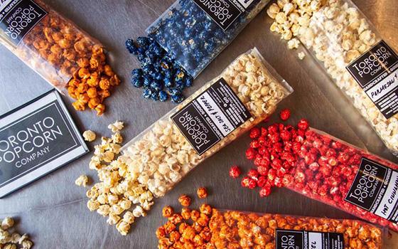 Toronto Popcorn Company flavours
