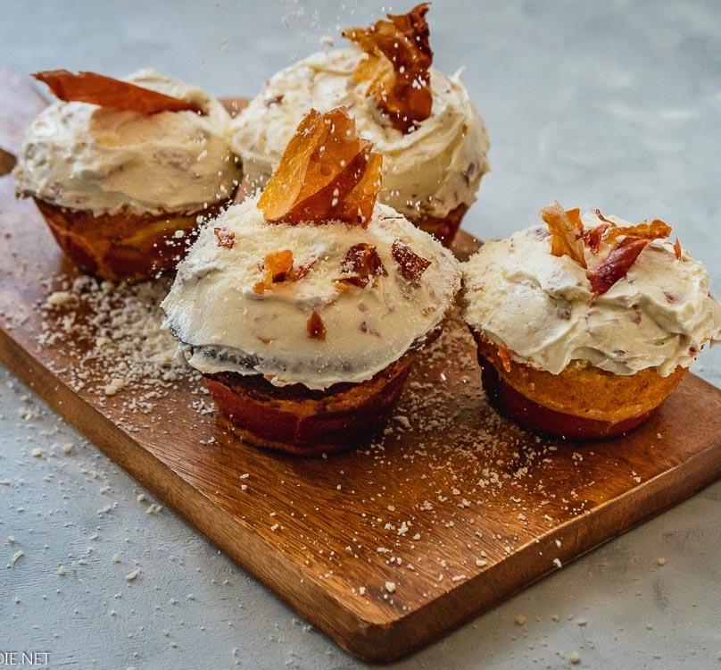 Prosciutto Cheese Cupcakes